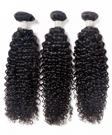 CARA Brazilian Virgin Human Hair Weave Bundles Deep Curly 3Pcs