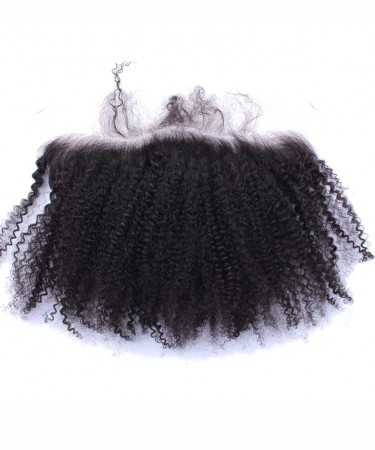 CARA Afro Kinky Curly Lace Frontal Closure 13x4 Bleached Knots