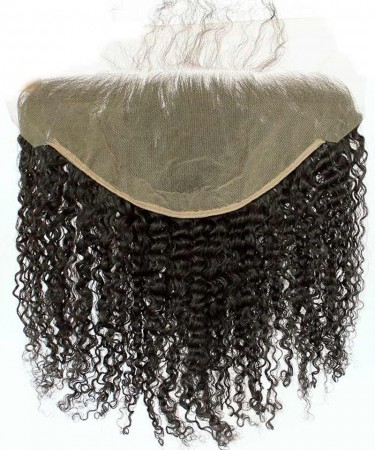 CARA 13x6 Lace Frontal Closure Kinky Curly Brazilian Virgin Hair Ear To Ear Frontal Pre Plucked