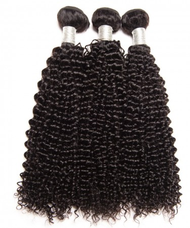 CARA Brazilian Virgin Human Hair Weave Bundles Kinky Curly 3Pcs