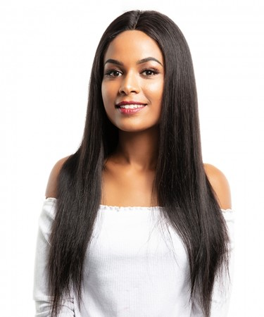 CARA 13x6 Lace Front Human Hair Wigs Straight Natural Black 250% Density Brazilian Human Hair Wigs For Women