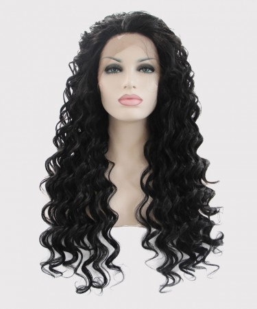 CARA Black Lace Front Wigs Loose Wave Synthetic Wig