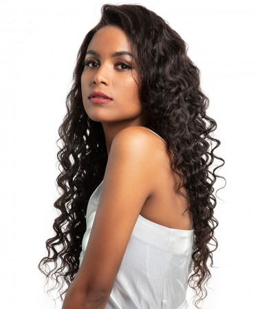 CARA 13x6 Deep Part Lace Front Human Hair Wigs With Baby Hair 250% Density Loose Wave