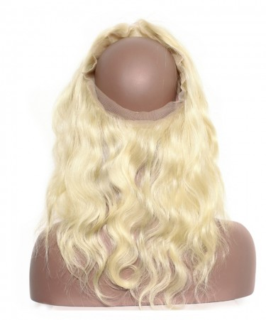 CARA Pre Plucked 360 Lace Frontal Closure With Baby Hair Body Wave 613 Blonde Color