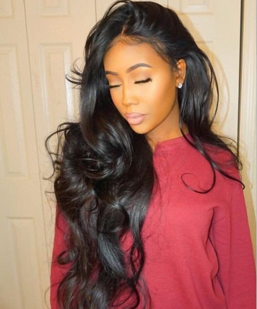 CARA Body Wave Full Lace Human Hair Wig No Combs No Straps Glue Needed