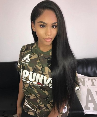Silky Straight Full Lace Human Hair Wig Glue Needed 120% Density Wigs