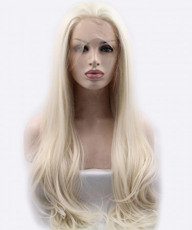 CARA Light Blonde Straight Synthetic Wig Lace Front Wig
