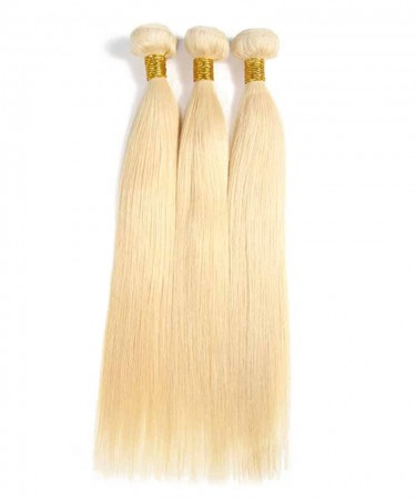 CARA Straight 613 Blonde Brazilian Virgin Hair Bundles 100% Human Hair Weave