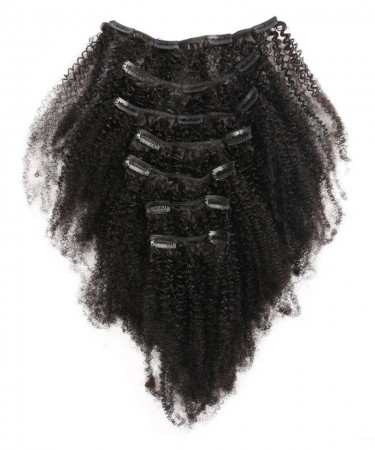 CARA Afro Kinky Curly Clip In Human Hair Extensions Brazilian 100% Remy Hair 120g/Set