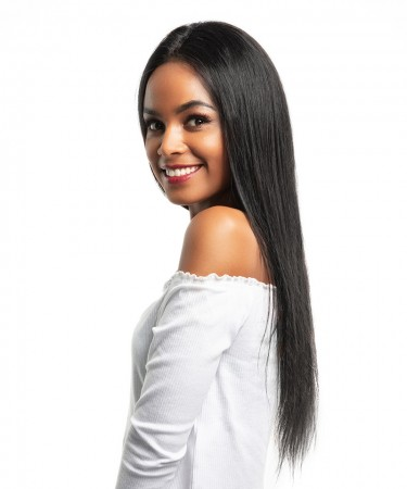 CARA Silky Straight Pre Plucked 360 Lace Frontal Wig 150% Density Lace Front Human Hair Wigs With Baby Hair