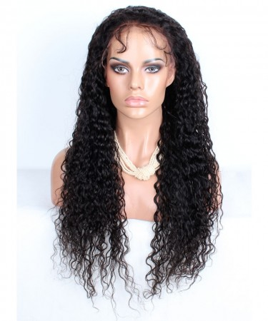 Lace Front Human Hair Wigs For Women Pre Plucked 130% Density Brazilian Curly Frontal Wig
