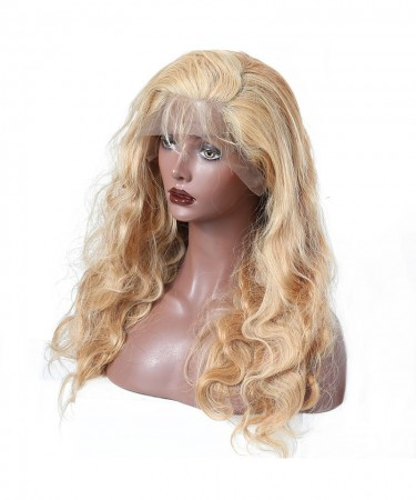 CARA #27 Honey Blonde Lace Front Wig Body Wave 250% High Density Lace Front Human Hair Wigs Brazilian Wig