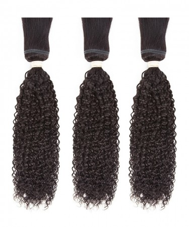 CARA Brazilian Kinky Curly Braid in Bundles Human Hair Weave 3 Pcs Natural Color