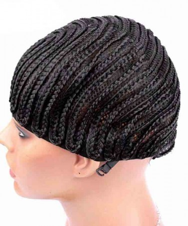 CARA Cornrows Wig Cap With Adjustable Strap Easier To Sew In For Loss Hair