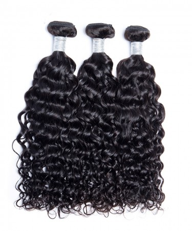 CARA 3 Pcs Brazilian Hair Weave Bundles Wet and Wavy Human Hair