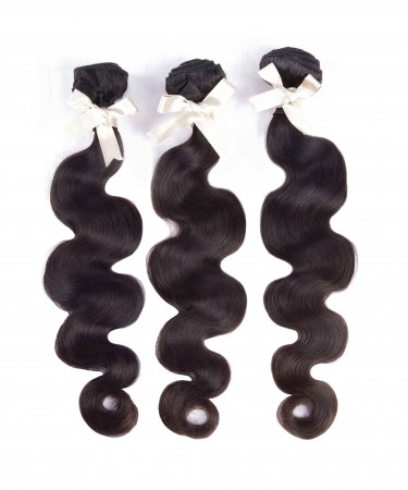 CARA Peruvian Virgin Hair 3 Bundles Body Wave 100% Unprocessed Human Hair Weave