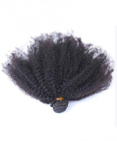 CARA Afro Kinky Curly Virgin Hair Weave Double Weft Human Hair 1 Bundle
