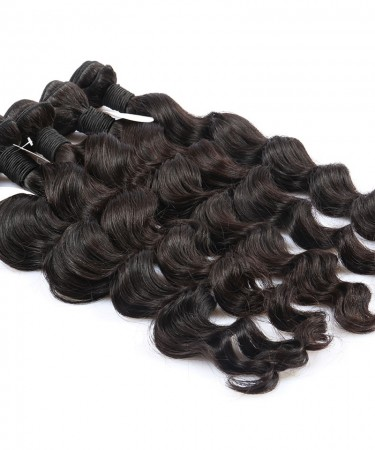 CARA Loose Wave 100% Unprocessed Hair Extensions 2 Pcs  Human Hair Weave Bundles