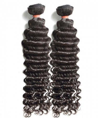 CARA 2 Bundles Brazilian Virgin Hair Deep Wave Unprocessed Human Hair Extensions