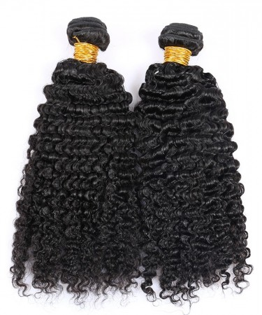 CARA Brazilian Kinky Curly Virgin Hair Weave Human Hair Bundles 2 Pcs