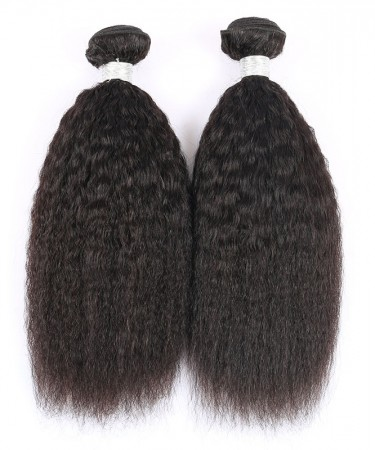 CARA Kinky Straight Brazilian Virgin Hair 3 Pcs 100% Human Hair Weaving