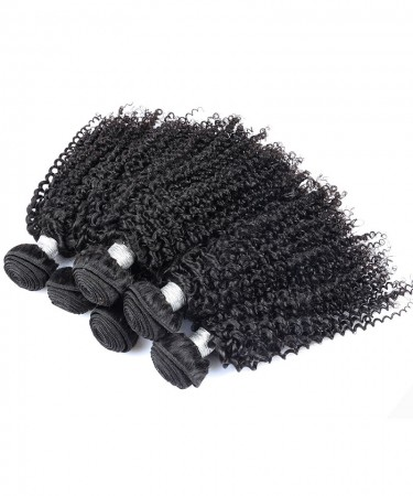 CARA 1 Bundle 100% Human Hair Weaving Kinky Curly Hair Weft Natural Color