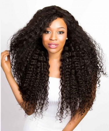 Brazilian Loose Curly Lace Front Human Hair Wigs 250% Density