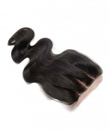 CARA Brazilian Body Wave Human Hair  4x4 Medium Brown Silk Base Lace Closure