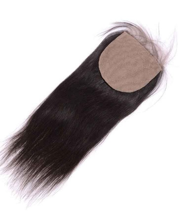 CARA Brazilian Virgin Human Hair Straight 4x4 Free Part Silk Base Closure