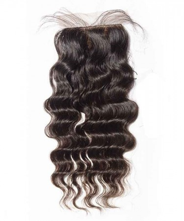 CARA Brazilian Loose Wave Virgin Hair 4x4 Medium Brown Silk Base Lace Closure