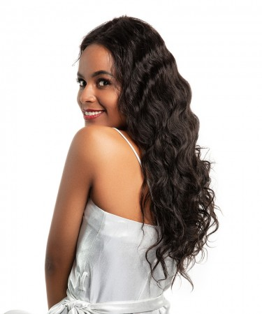 SALE! CARA Lace Front Human Hair Wigs 120% Density Body Wave Natural Black Color