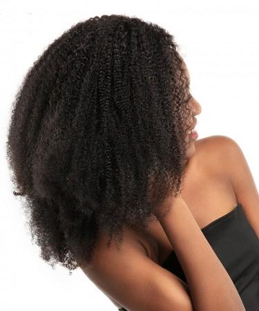 CARA Afro Kinky Curly Virgin Hair Weave Double Weft Human Hair 2 Bundles