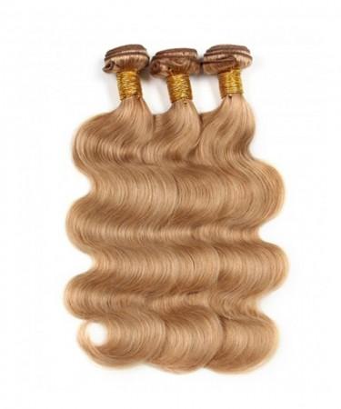 CARA Body Wave 3 Pcs 100% Unprocessed Human Hair Weave #27 Brazilian Virgin Hair