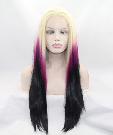 CARA Blonde/Purple Ombre Lace Front Wig Synthetic Wig
