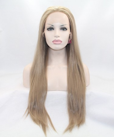 CARA Ash Blonde Straight Synthetic Wig For Black Women