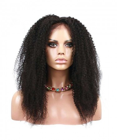CARA Pre Plucked Lace Front Human Hair Wigs Afro Kinky Curly 22inch 130% Density