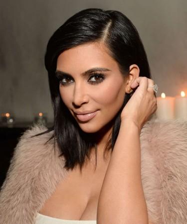 Kim Kardashian Short Straight Style Lace Wig