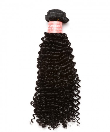 CARA Kinky Curly 100% Human Hair Bundles Natural Color