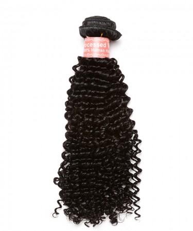 CARA Kinky Curly 100% Human Hair Bundles Natural Color
