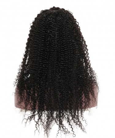 CARA Silk Base Full Lace Wig Kinky Curly Human Hair Wigs With Baby Hair 130% Density 20inch
