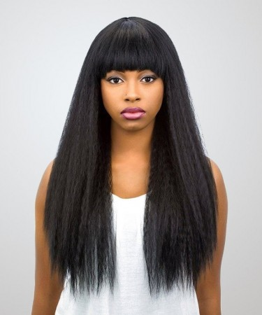 Lace Front Human Hair Wigs Kinky Straight Brazilian Lace Wigs 120% Density