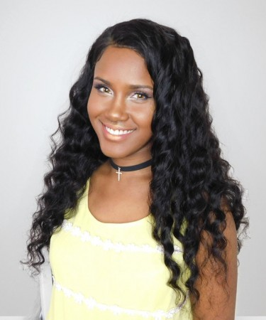 CARA Loose Wave 360 Lace Frontal Wig Pre Plucked With Baby Hair Brazilian Lace Front Human Hair Wigs 180% Density