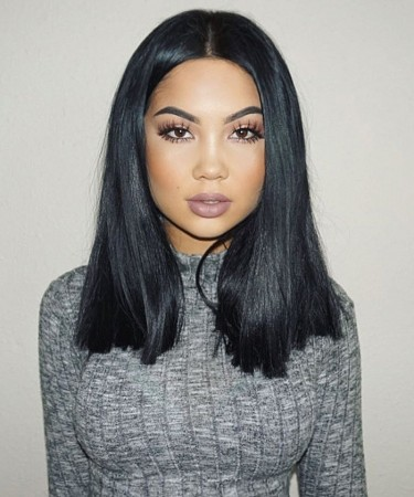 CARA 150% Density 360 Lace Frontal Wig Pre Plucked With Baby Hair Brazilian Hair Straight Lace Wig