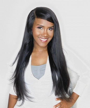 Lace Front Wigs Pre-Plucked Natural Hair Line Straight 150% Density