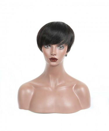 CARA Short Human Hair Bob Wig Brazilian Straight Human Hair Wigs Natural Hair 6 Inch