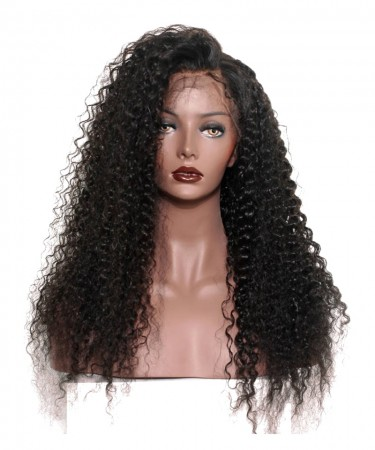 Pre Plucked Full Lace Human Hair Wigs With Baby Hair For Women Black 150% Density Brazilian Deep Curly Lace Wig Remy