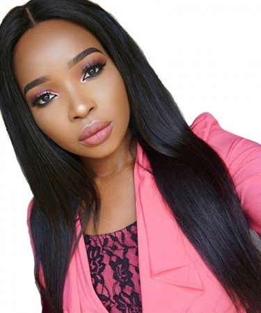 Silky Straight 13x4 Lace Front Human Hair Wigs 180% Density