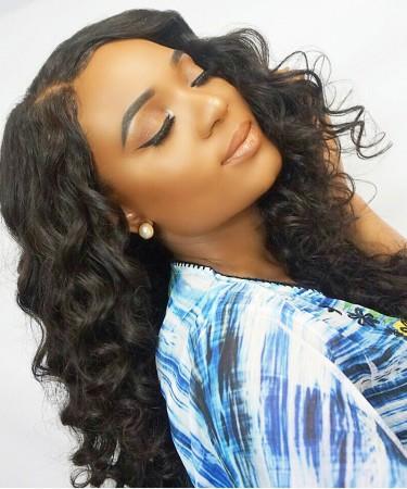 CARA Water Wave Full Lace Human Hair Wigs Silk Top Wigs Natural Scalp