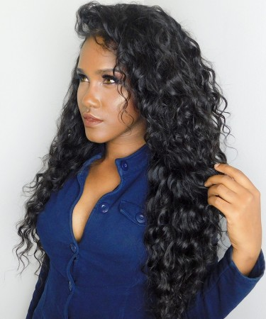 CARA Loose Wave Pre Plucked 360 Lace Frontal Closure With 2 Bundles Natural Color