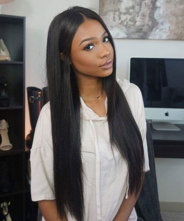 22 inch High Density Silky Straight Lace Front Wig
